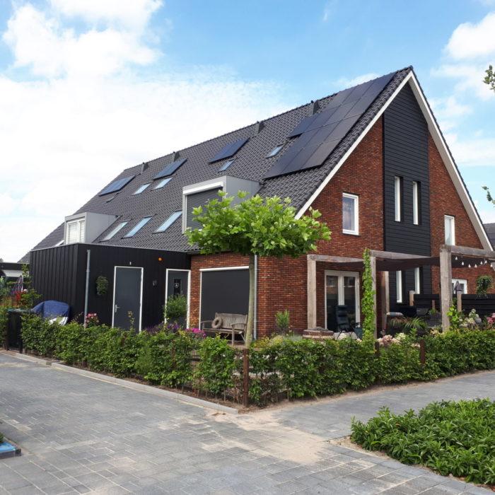 16 rug aan rug woningen plan Dwarsakker in Zwartebroek